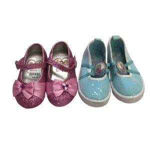Disney Frozen Elsa Girls Blue Size 6 Shoes